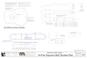 Soprano 14 Bell Ukulele Plans Template Sheet