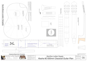 Kasha Version 2 650mm Scale, Template Sheet
