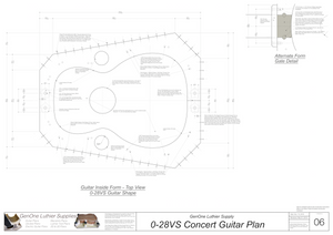 0-28vs Guitar Plans Inside Form Top View, Optional Gate Detail
