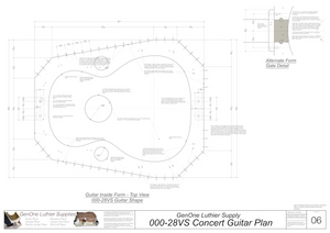 000-28vs Guitar Plans Inside Form Top View