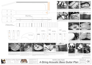 4-String Acoustic Bass Guitar Plans template sheet #2 construction photos