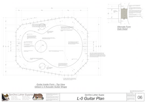 Gibson L-0 Guitar Plans Inside Form Top View Alternate Gate
