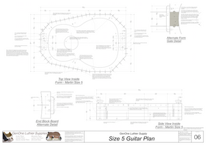 Size 5 Guitar Plans Inside Form Top View Alternate Gate