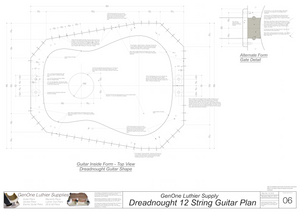 Dreadnought 12-String Guitar Plans Guitar Plans Inside Form Top View