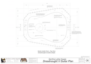Dreadnought V Brace Guitar Plans Guitar Plans Inside Form Top View