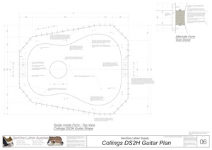 Collins DS2H Guitar Plans Inside Form Top View Alternate Gate