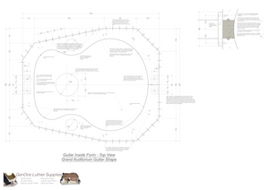 Grand Auditorium 12-String Guitar Plans Guitar Plans Inside Form Top View