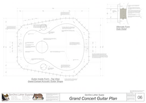 Grand Concert Guitar Plans Inside Form Top View
