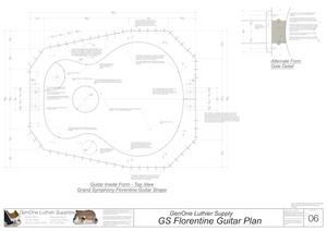 Grand Symphony Florentine Guitar Plans Guitar Plans Inside Form Top View