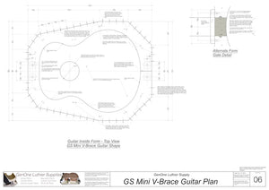 GS Mini V-Brace Guitar Form Package Top View