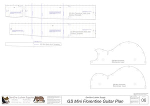 GS Mini Florentine Guitar, Template Sheet #2