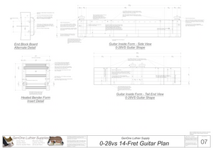 0-28vs 14 Fret Form Package Side & Front Views
