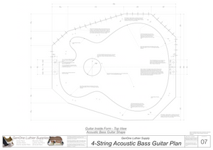 4-String Acoustic Bass Form Package Top View