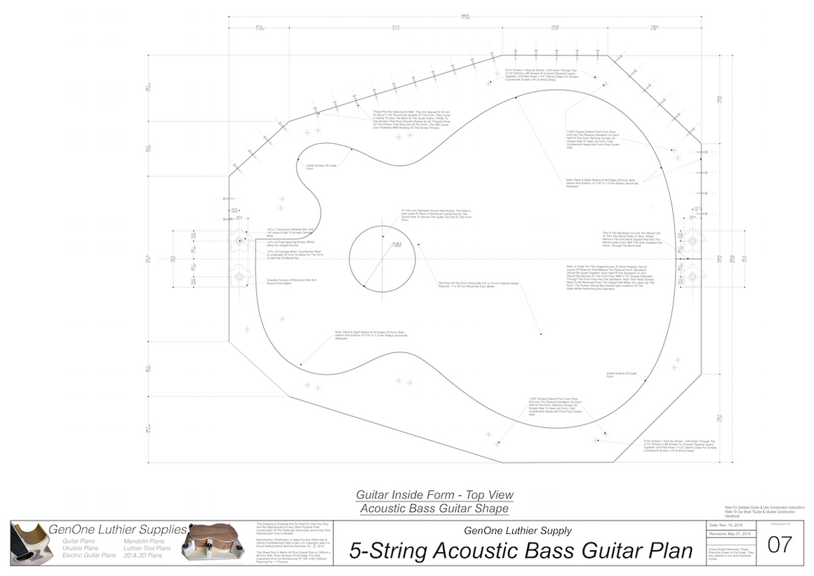 5-String Acoustic Bass Form Package Top View