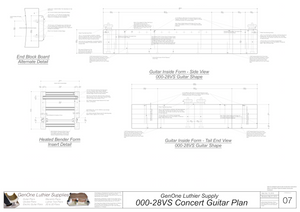 000-28vs Guitar Plans Inside Form Side Views