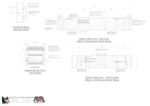 Gibson L-00 Guitar Plans Inside Form Side Views
