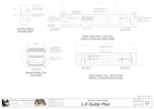 Gibson L-0 Guitar Plans Inside Form Side Views