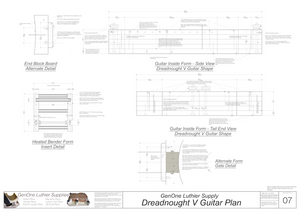 Dreadnought V Brace Guitar Plans Guitar Plans Inside Form Side Views