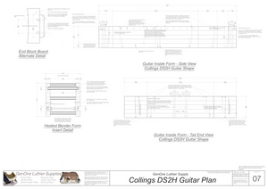 Collins DS2H Guitar Plans Inside Form Side Views
