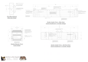 Grand Auditorium 12-String Guitar Plans Guitar Plans Inside Form Side Views