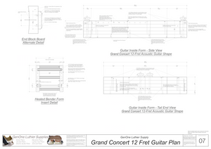 Grand Concert 12-Fret Guitar Plans Inside Form Side Views
