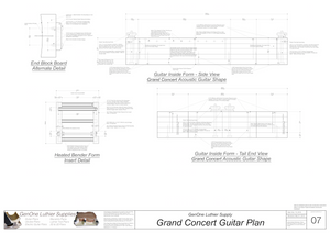 Grand Concert Guitar Plans Inside Form Side Views