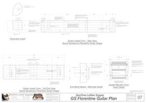 Grand Symphony Florentine Guitar Plans Guitar Plans Inside Form Side Views