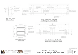 Grand Symphony V-Brace Guitar Plans Guitar Plans Inside Form Side Views
