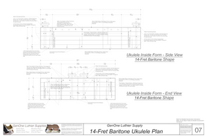 Baratone 14 Ukulele Plans Inside Form Side Views