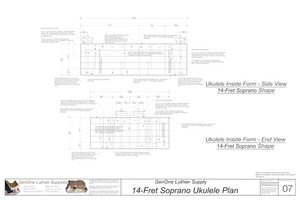 Soprano 14 Ukulele Plans Inside Form Side Views