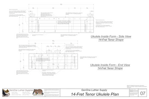 Tenor 14 Ukulele Plans Inside Form Side Views