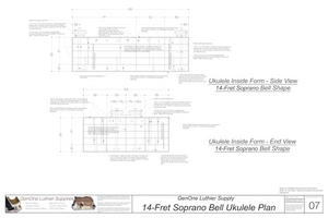 Soprano 14 Bell Ukulele Plans Inside Form Side Views