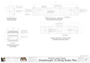 Dreadnought 12-String Guitar Form Package Front and Side Views