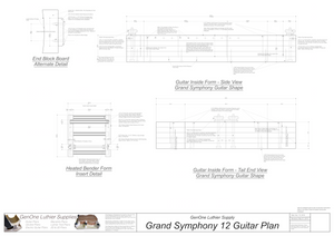 Grand Symphony 12-String Guitar Form Package Front and Side Views