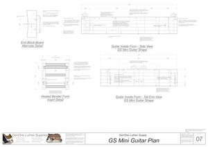 GS Mini Guitar Form Package Front and Side Views