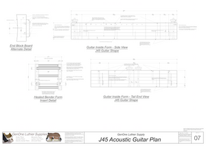 J45 Guitar Form Package Front and Side Views