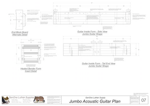 J200 Guitar Form Package Front and Side Views