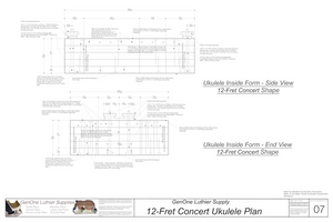Concert 12 Ukulele Form Package Front and Side Views