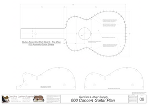 000 Guitar Plans Workboard & Heated Bender Form Inserts