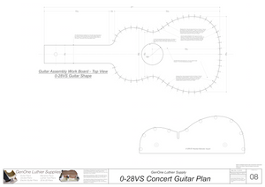 0-28vs Guitar Plans Workboard & Heated Bender Form Inserts