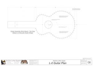 Gibson L-0 Guitar Plans Workboard & Heated Bender Form Inserts