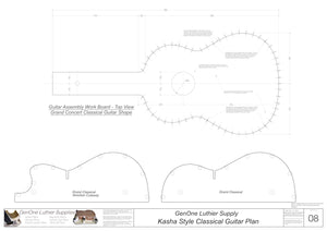 Classical Guitar Plans - Kasha Bracing Workboard & Heated Bender Form Inserts