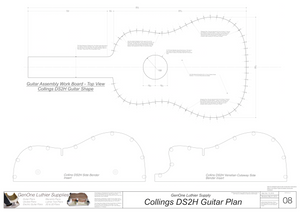 Collins DS2H Guitar Plans Workboard & Heated Bender Form Inserts