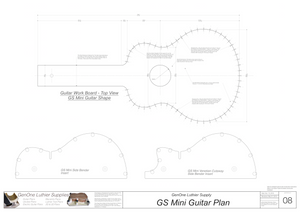 GS Mini Guitar Plans Workboard & Heated Bender Form Inserts