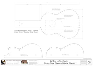 Classical Guitar Plans - Torres 2 Bracing Form Package Workboard