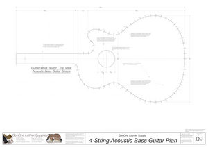 4-String Acoustic Bass Guitar Plans Workboard