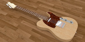 Solid Body Electric Guitar Plan #3 Overall View