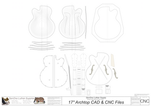 Benedetto 17 Archtop Guitar 2D CNC Files