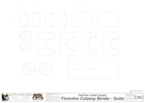 Florentine Cutaway Bender - Guitar 2D CNC Files