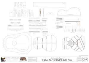 0-28vs Guitar Plans 2d CNC Files Content